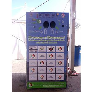 Eco compattatori - Tritavetro- Raccoglitori per rifiuti con e senza sistema di remunerazione